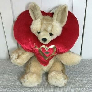 Build A Bear WWF Fennec Fox Plush Valentine's Love